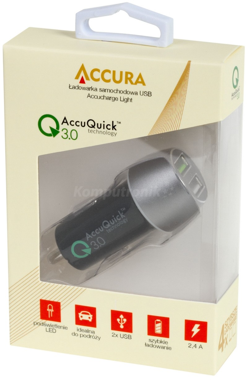 Accura Light 30W Quick Charge 3.0