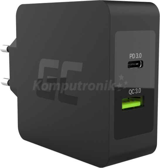 Green Cell 1x USB-C 30W Power Delivery 1x USB Quick Charge 3.0