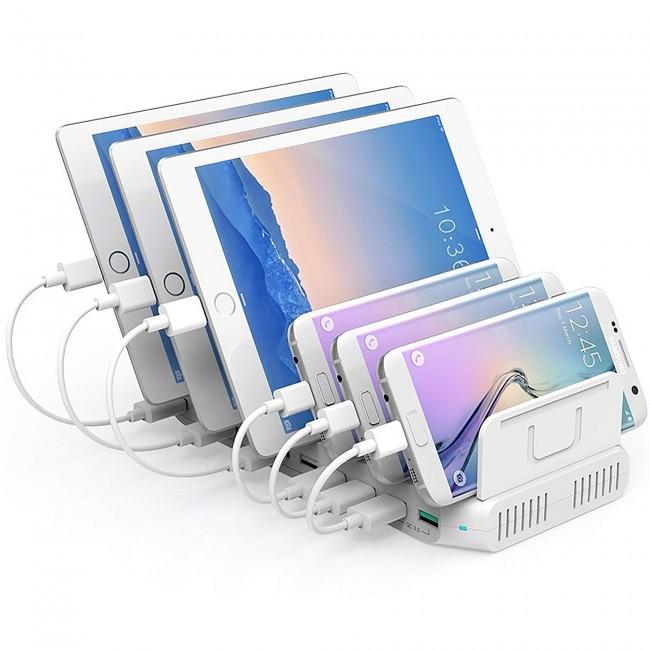 Unitek Charging Station 10x USB white