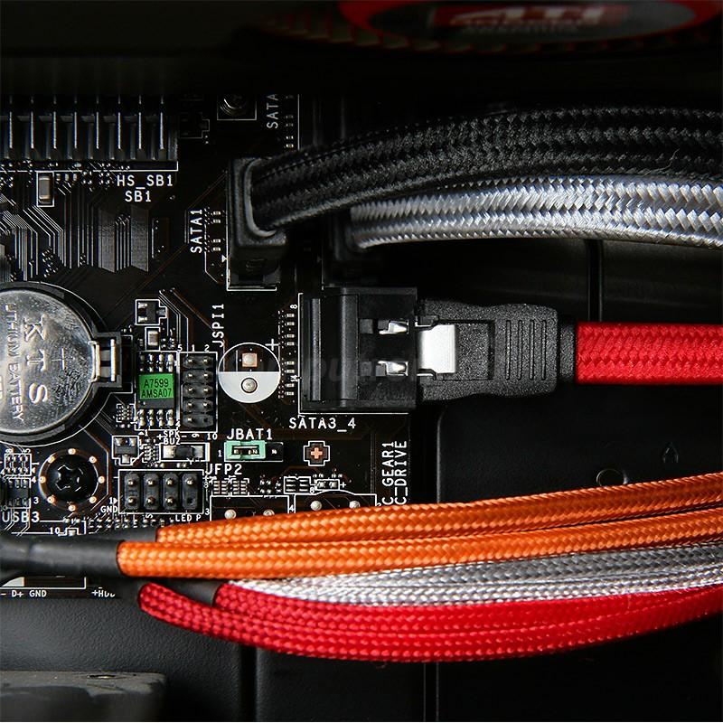 BitFenix Przedluzacz Audio 30cm - oplywowy black black