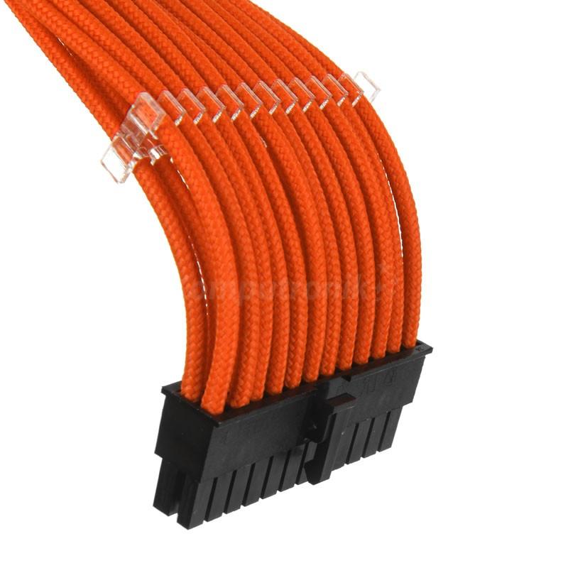 PHANTEKS set przedluzaczy oplatanych, 500mm - orange