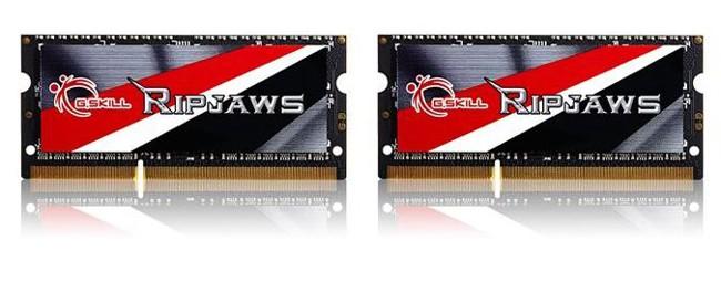 G.SKILL Ripjaws 16GB [2x8GB 1600MHz DDR3 CL9 1.35V SODIMM]