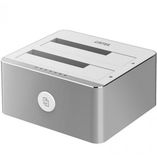 Unitek 2xHDD/SSD Silver