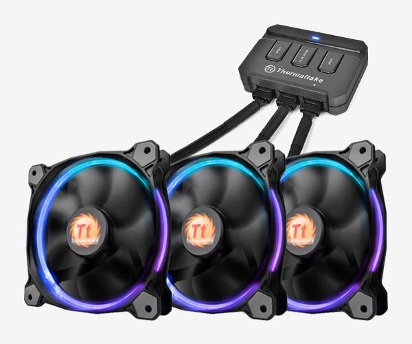 Thermaltake Riing 12 LED RGB 256 3-pak
